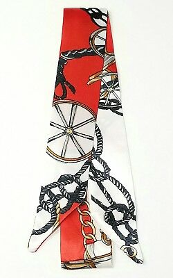 1 pc Twilly Scarf Handbag Handle Protector Head Bandeau Wrist Wrap Tie NEW
