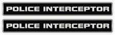 Police Interceptor Vinyl Decals | Set of 2 | Stickers Emblems Labels Mustang