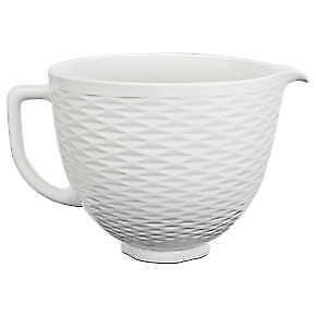 KitchenAid® 5 Quart Textured Ceramic Bowl, KSM2CB5TLW