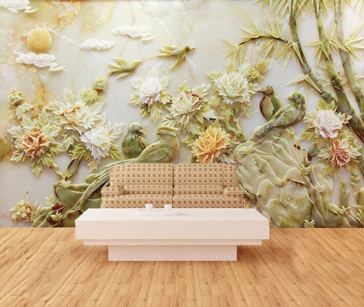 3D Bamboo Flower 987 Wallpaper Mural Wall Print Wall Wallpaper Murals US Carly