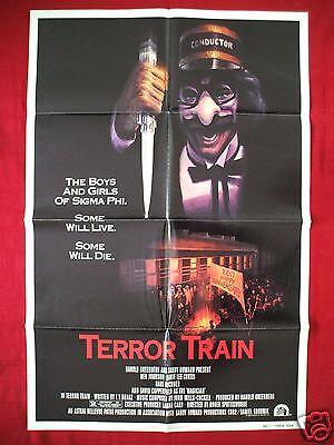 TERROR TRAIN * 1980 ORIGINAL MOVIE POSTER 1SH JAMIE LEE CURTIS HALLOWEEN NM