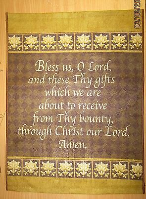 Mealtime Prayer Polyester Fabric Wallhanging- Bannerette