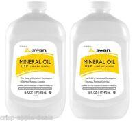 2 Pack Vi-jon Inc. S0883 Mineral Oil 16 Oz - Lubricant, Laxative