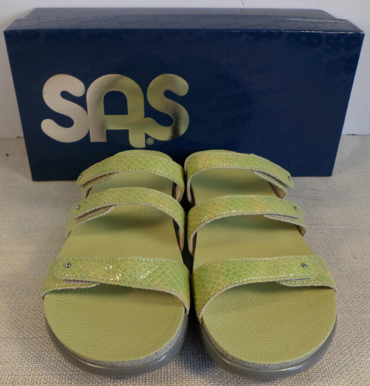 SAS ISKIA LIMA WOMEN'S WOMEN'S WOMEN'S GREEN FLIP FLOP SANDALS NEW IN BOX bb69ce