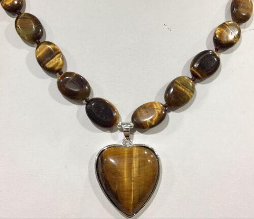 "Naturel Opale Blanc 13x18mm cœur forme 30x30mm Gems collier pendentifs 18/"" AAA"
