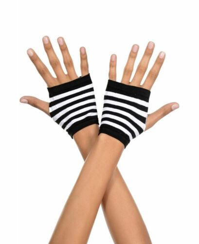 Music Legs 439 Striped Fingerless Gloves