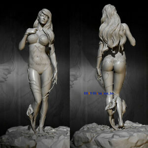 Unpainted-75mm-H-Vine-Girl-Resin-1-24-Scale-Model-Kits-GK-Unassembled-Figure-New