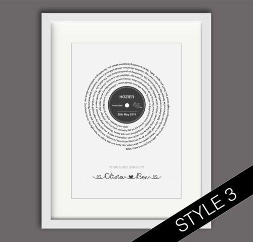 Personnalisé Mariage//Fiançailles//St-Valentin//Anniversaire Cadeau-Print-divers