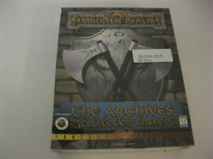 Details about Forgotten Realms The Archives Collection Three new sealed PC  game CD-ROM SSI