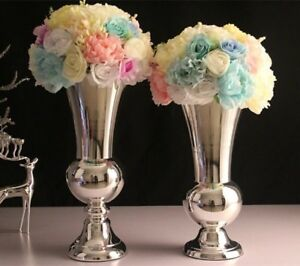 eBay & Details about Tall Silver Flower Vase For HIRE