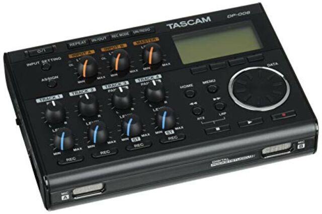 Tascam DP-006 Multipiste Enregistreur Numérique Studio de Poche