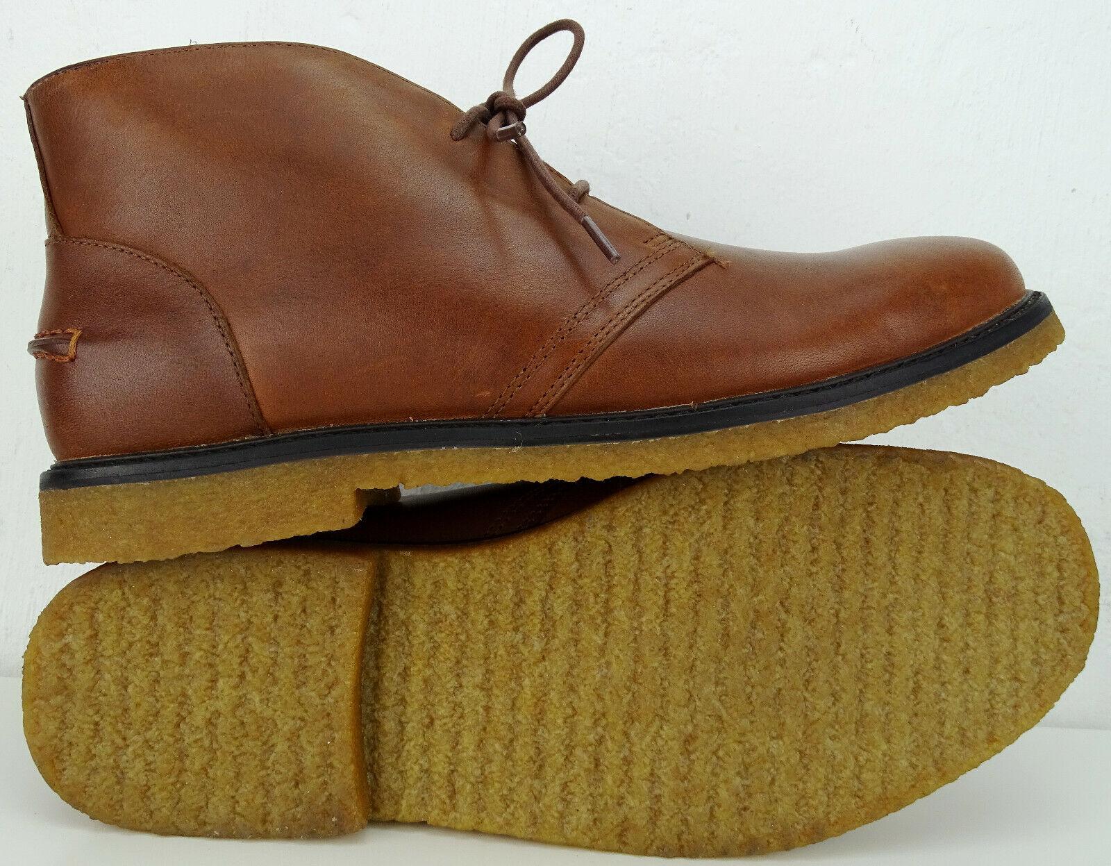 Ralph Lauren Marlow Messieurs bottes bottine bottesie Chukka chaussures En Cuir Taille 45 Neuf