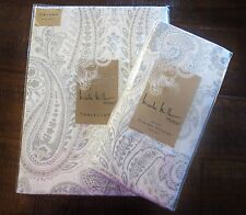 Nicole Miller Home Tablecloth 60x84 & Napkins 20x20 Set Silver Gray/White   NEW