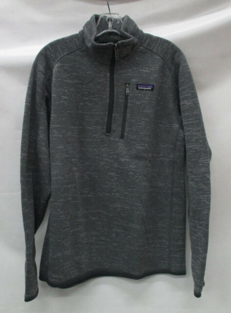 Patagonia Mens Better Sweater 14 Zip Pullover 25522 Nickel Size
