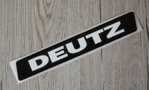 Deutz Aufkleber Kotflügel oder Kabine für D5206 20x3cm Sticker Label