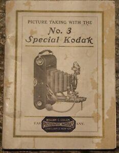 Image Prenant Avec Le No.3 Spécial Kodak ~ Rare ~1911