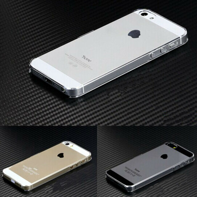 For iPhone 5 5s SE Glossy Clear Transparent Ultra Thin Hard Plastic Case Cover