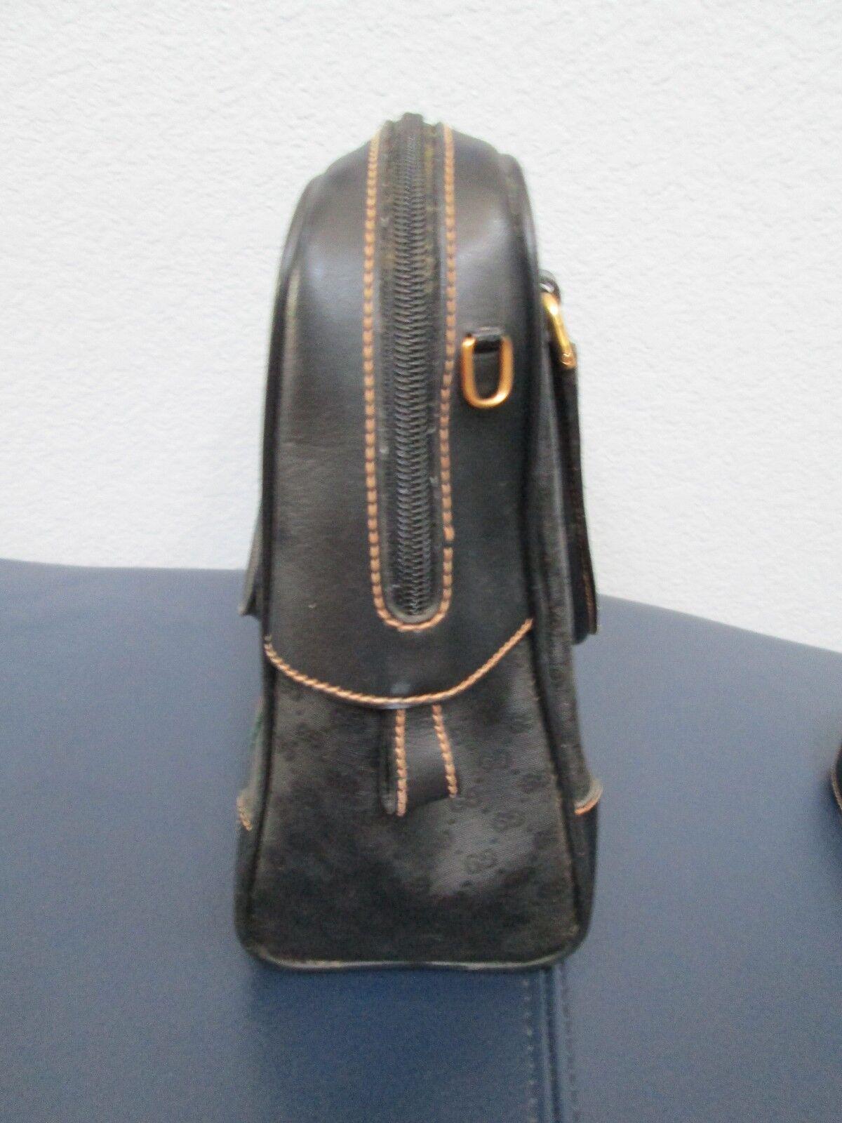 Authentic Vintage Gucci Black Classic Satchel Red… - image 4