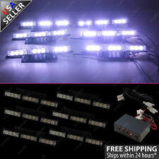 54 LED Emergency Vehicle Strobe Flasher Lights Deck Dash Grille Lightbars White