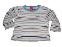 Esprit tolles Langarm Shirt Gr. 62 blau-gelb gestreift !!