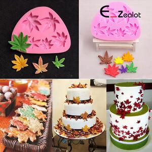 Maples-Fondant-Schokolade-Kuchenform-Dekorieren-Backform-Silikon-form-Pink-DE