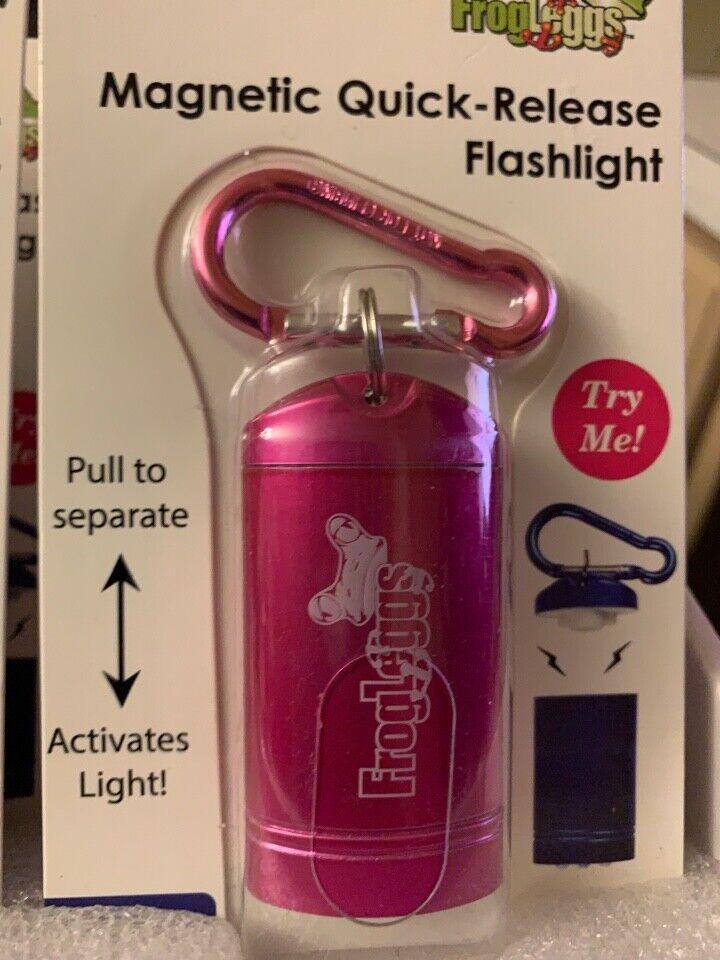 FrogLeggs magnetic quick release LED Flashlight 1-PACK 3-LED Light