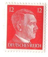 Rare Old Antique Vintage WWII NAZI Germany War Adolf Hitler Head 3rd Reich Stamp