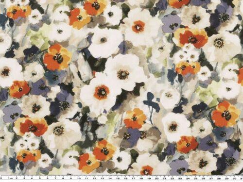 Popeline de coton au mètre impression numérique 150cm de large fleurs