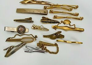 Men-s-Jewelry-Lot-of-17-Tie-Clips-Anson-Foster-Swank