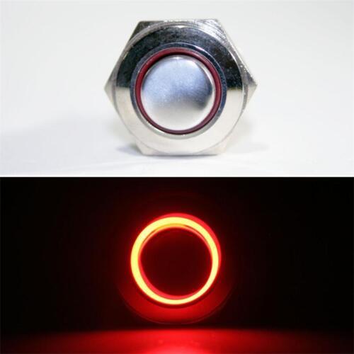 Klingeltaster Edelstahl Drucktaster LED beleuchtet rot Klingelknopf Taster