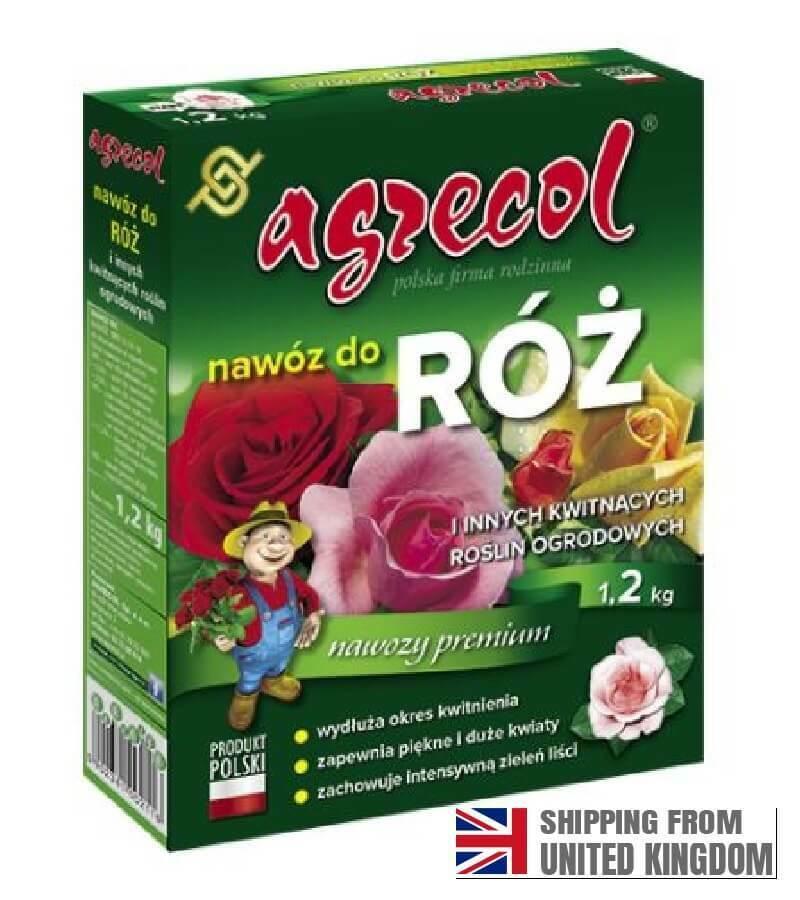 Fertilizer for roses, strengthens flowering, 1.2 kg, AGRECOL