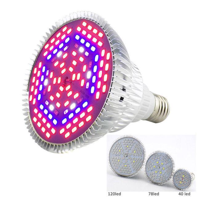 28 DEL Plant Grow Light Lampe éclairage Fleur Légumes Spectre Complet Ampoule Indoor