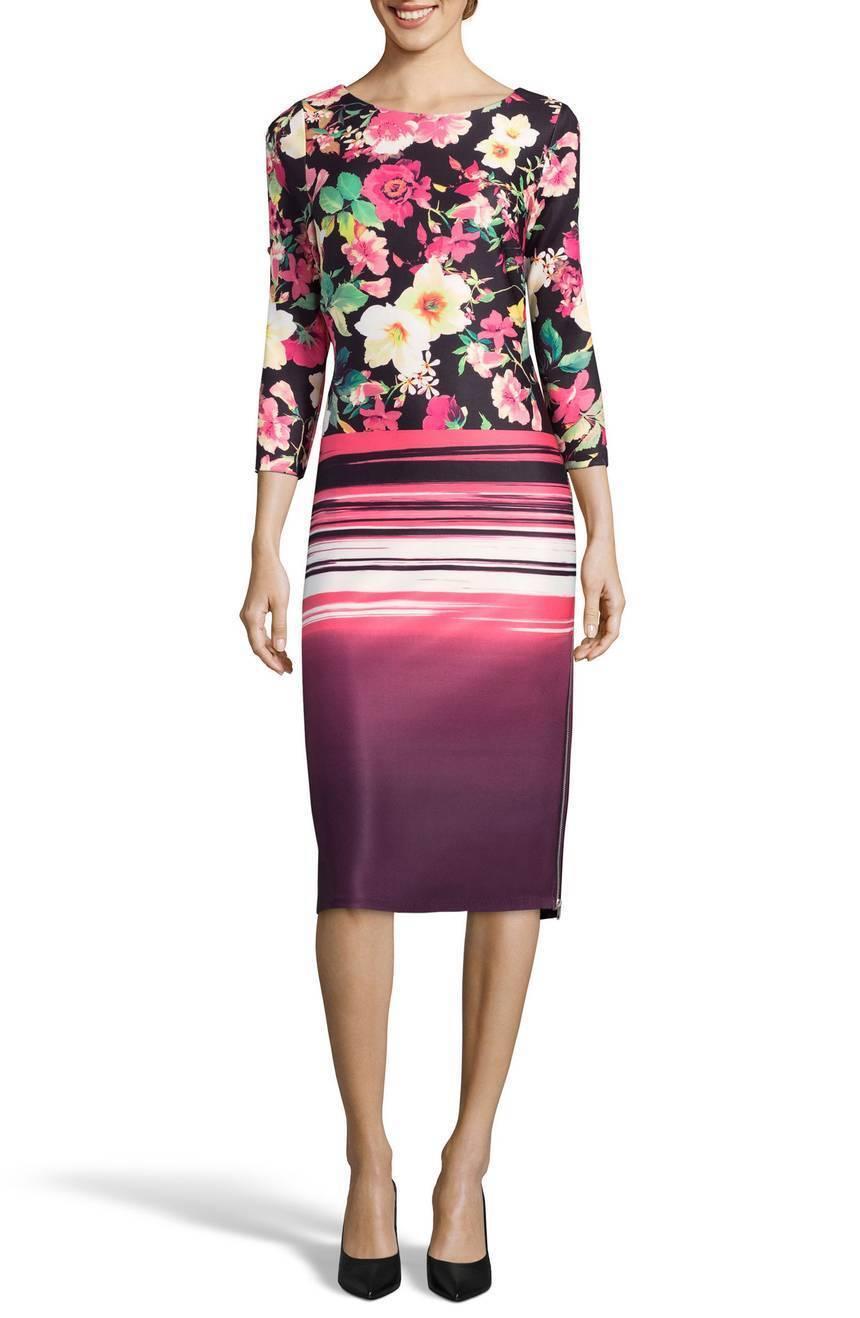 NEW  ECI   Zipper  Floral  Print Sheath Dress Größe 6