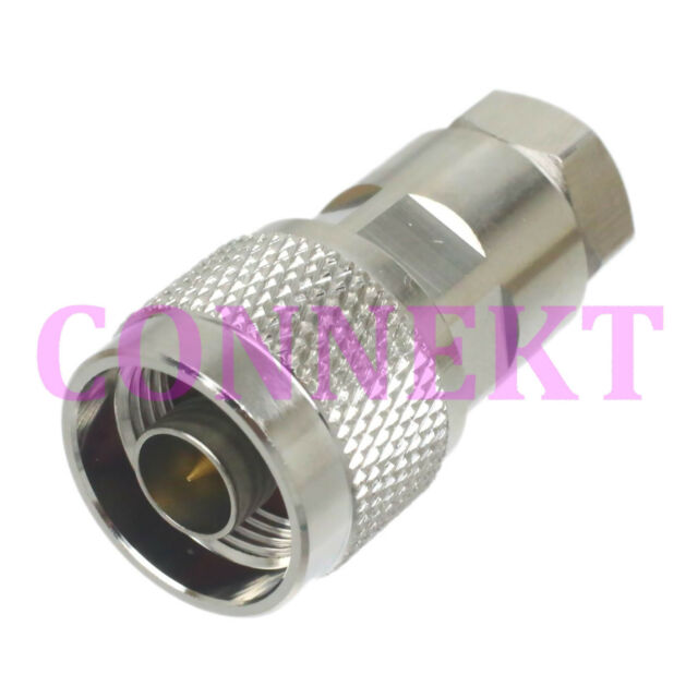 "1pce N male plug clamp for 1/4"" corrugated cable RF connector"