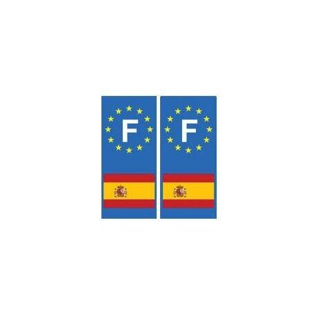 Espagne F autocollant plaque droits