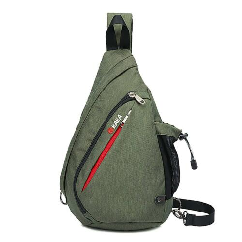 Kaka Canvas Sling Bag Travel Shoulder Backpack Chest Crossbody Daypack for men