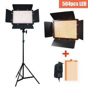 500-LED-Light-Panel-Stand-Kit-Photography-Video-Studio-Lighting-Dimmer-Mount
