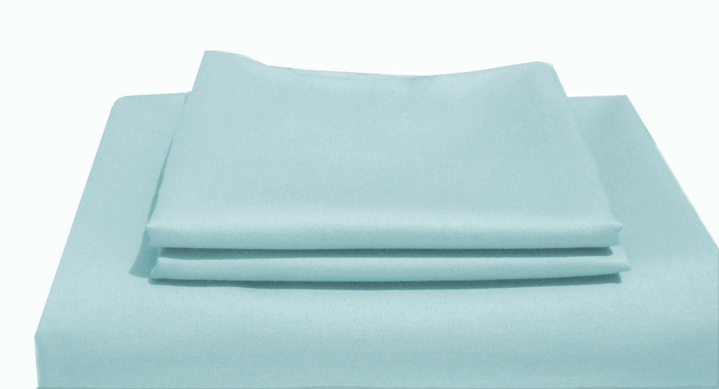 1000TC Egyptian Cotton DUVET COVER Sateen Solid Powder bluee