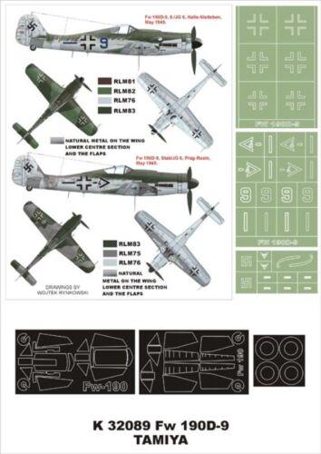 Montex Super Mask 1:32 Fw-190 D-9 for Hasegawa Spraying Stencil #4 #K32089
