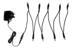 9V Guitar Effects Pedal Power Supply Adapter /& 6 7 8 9 Way Daisy Chain Lead Akai