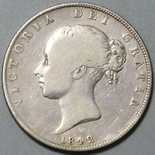 1842 Victoria 1/2 Crown Great Britain Silver Coin (20040301R)