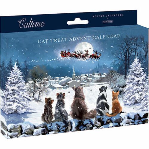 Watching Out for Father Christmas Cat Christmas Pet Advent Calendar