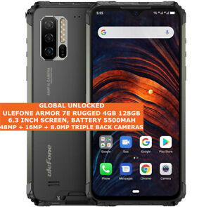 """ULEFONE ARMOR 7E RUGGED 4gb 128gb Waterproof 48mp Face Id 6.3"""" Android 9.0 Black"""