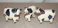Black & White Spotted Milk Cow Statue With Saying Live Love Laugh 3 Sayings