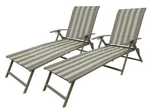 2 outdoor folding lounge chairs chaise pool patio sun for Beach chaise lounge folding