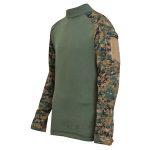 TRU-SPEC-2559-Woodland-Digital-Camo-Tactical-Uniform-Combat-Shirt-FREE-SHIP