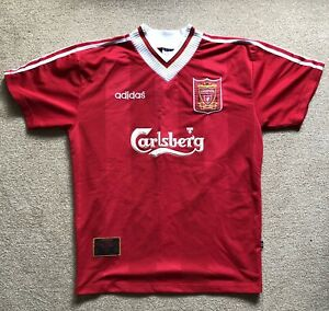 Liverpool fc Official Home shirt 1995-96 season UK Large in good condition.