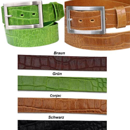 Été Fashion tendance crocodiles Optic cuir veritable 4cm ceinturée longueur u couleur tégée