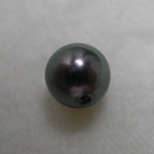Echte Schwarze Perle halbgebohrt 0.7-1ct 4.7-5.5mm