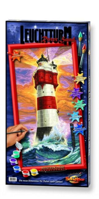 painting by numbers Schipper North sea 40x80 cm WANGEROOGE LIGHTHOUSE RED SAND